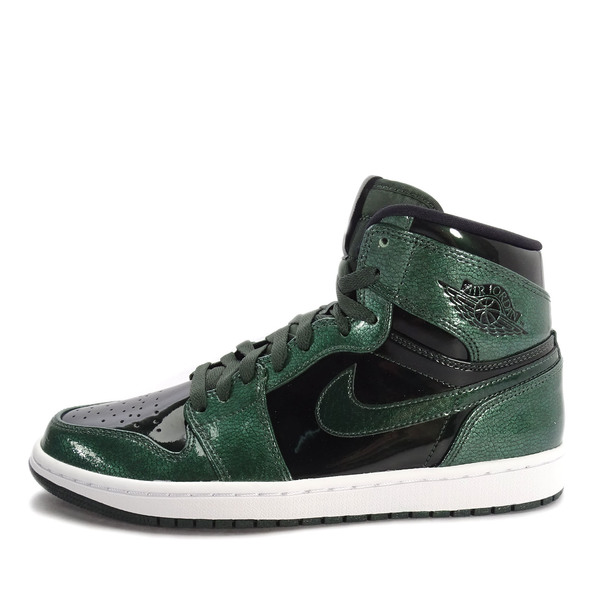 size 40 618c6 ec899 Nike Air Jordan 1 Retro High  332550-300  Basketball Patent Leather  Green Black   eBay