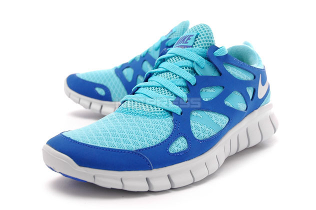 d3b8742d712a sale womens nike free run 2 black silver tide pool blue shoes eee77 4370d   norway image is loading wmns nike free run 2 443816 444 running 1625d ef36e