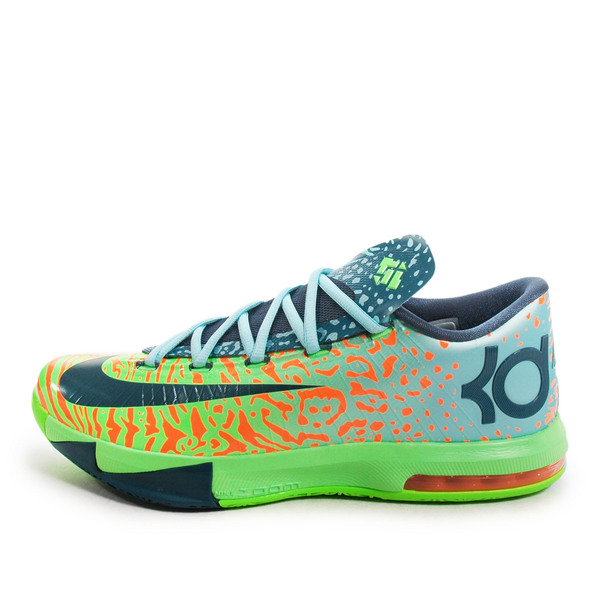 sports shoes 9addc 56a66 Details about Nike KD VI  599424-302  Basketball Liger Electric Green Night  Factor-Orange