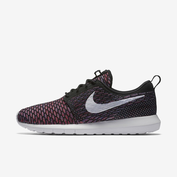 Nike NSW Roshe NM Flyknit [677243-016] Men Casual Shoes Black/White-Red
