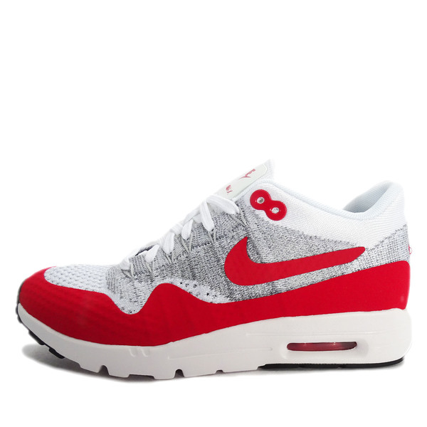 Nike WMNS Air Max 1 Ultra Flyknit [843387 101] NSW Running White/Red