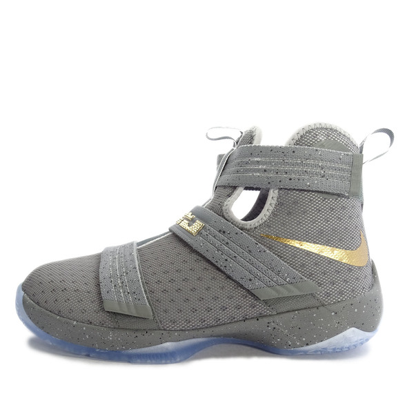 the best attitude de967 564c7 Details about Nike Lebron Soldier 10 GS 845121-010 Basketball Cool  GreyGold