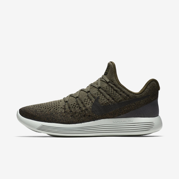 Nike Lunarepic Low Flyknit 2 [863779-303] Men Running Shoes Cargo Khaki/Black