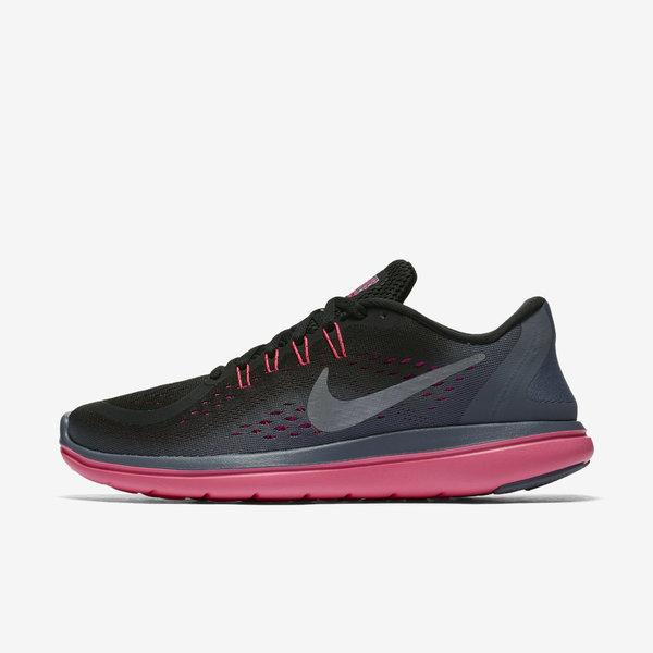 Nike WMNS Flex 2017 RN [898476-009] Women Running Shoes Black/Grey-Hot Punch