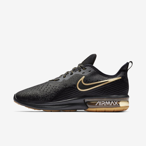Details about Nike Air Max Sequent 4 [AO4485 005] Men Running Shoes BlackGold White