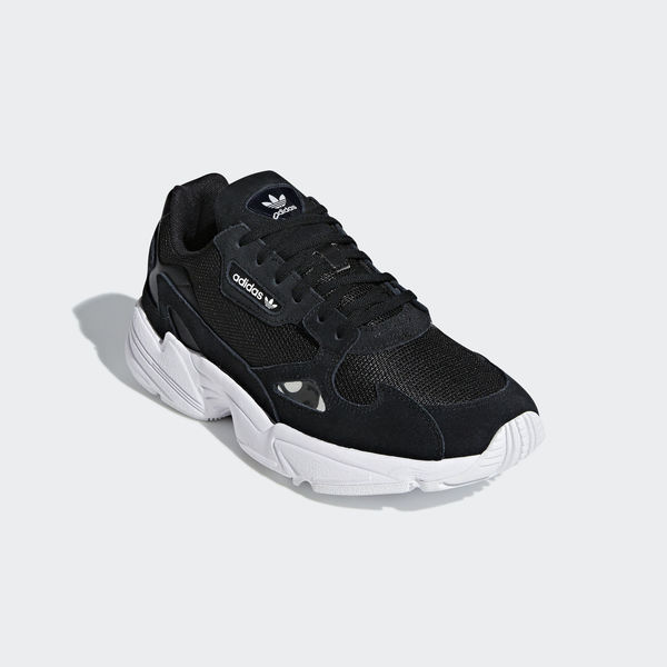 Adidas Falcon W  B28129  Women Casual Shoes Kylie Jenner Black White ... 04954e2e9
