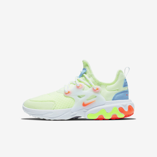 Details about Nike React Presto GS [BQ4002 700] Kids Casual Shoes Barely VoltHyper Crimson