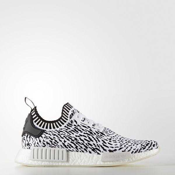 Adidas NMD_R1 Primeknit [BZ0219] Men Casual Shoes Zebra White/Black
