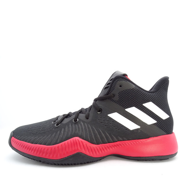 ADIDAS Men Red & Black Mad Bounce 2018 Mid Top Basketball Shoes