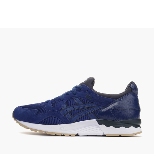 e92cf0cb76ba1 Details about Asics Tiger GEL-Lyte V [H6Q4L-5151] Men Casual Shoes  Navy/Blue Print