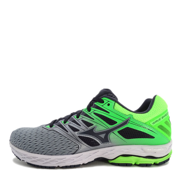 Men Running Shoes Grey/Black-Green